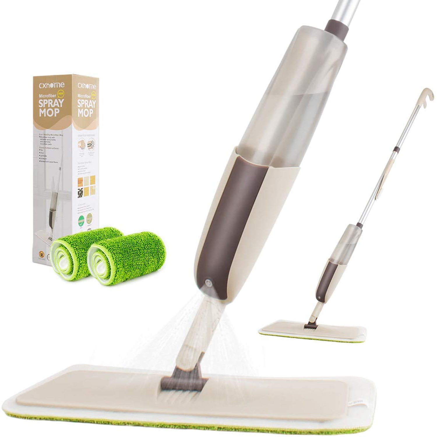 Spray Mop for Floor Cleaning, CXhome Hardwood Floor Mop