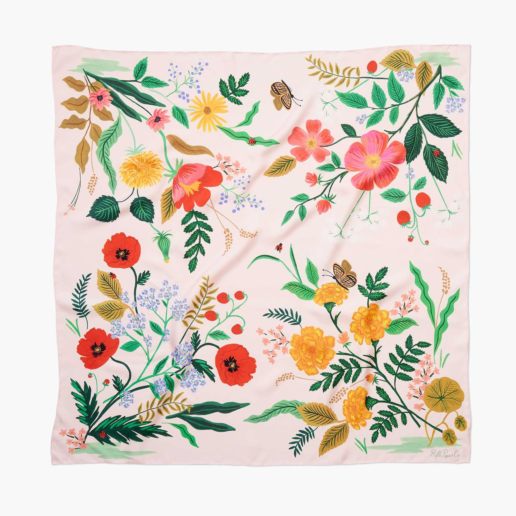 Best gifts for grandma - Rifle Paper Co. Botanical Silk Scarf
