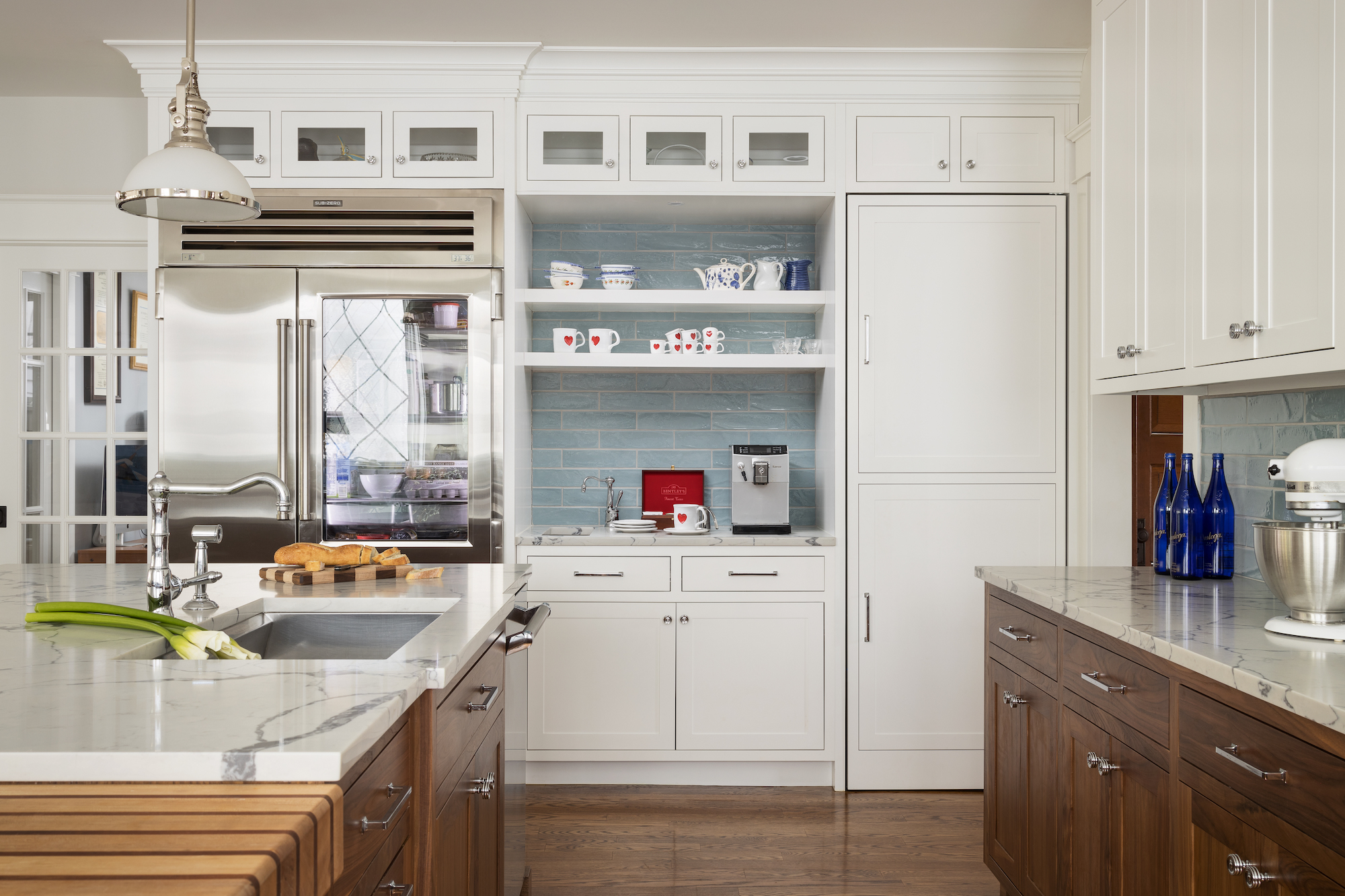 Inset Shaker Style Cabinet Doors in Kitchen