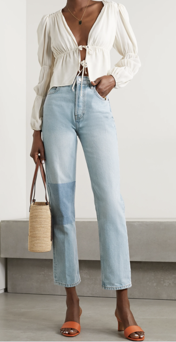 best-straight-leg-jeans-Reformation Cynthia Jeans