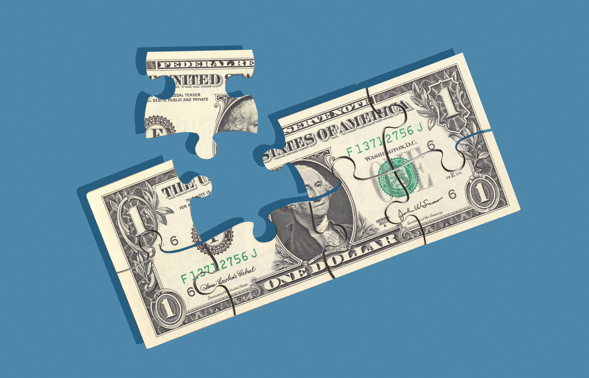 what-is-a-good-debt-to-income-ratio: dollar bill puzzle
