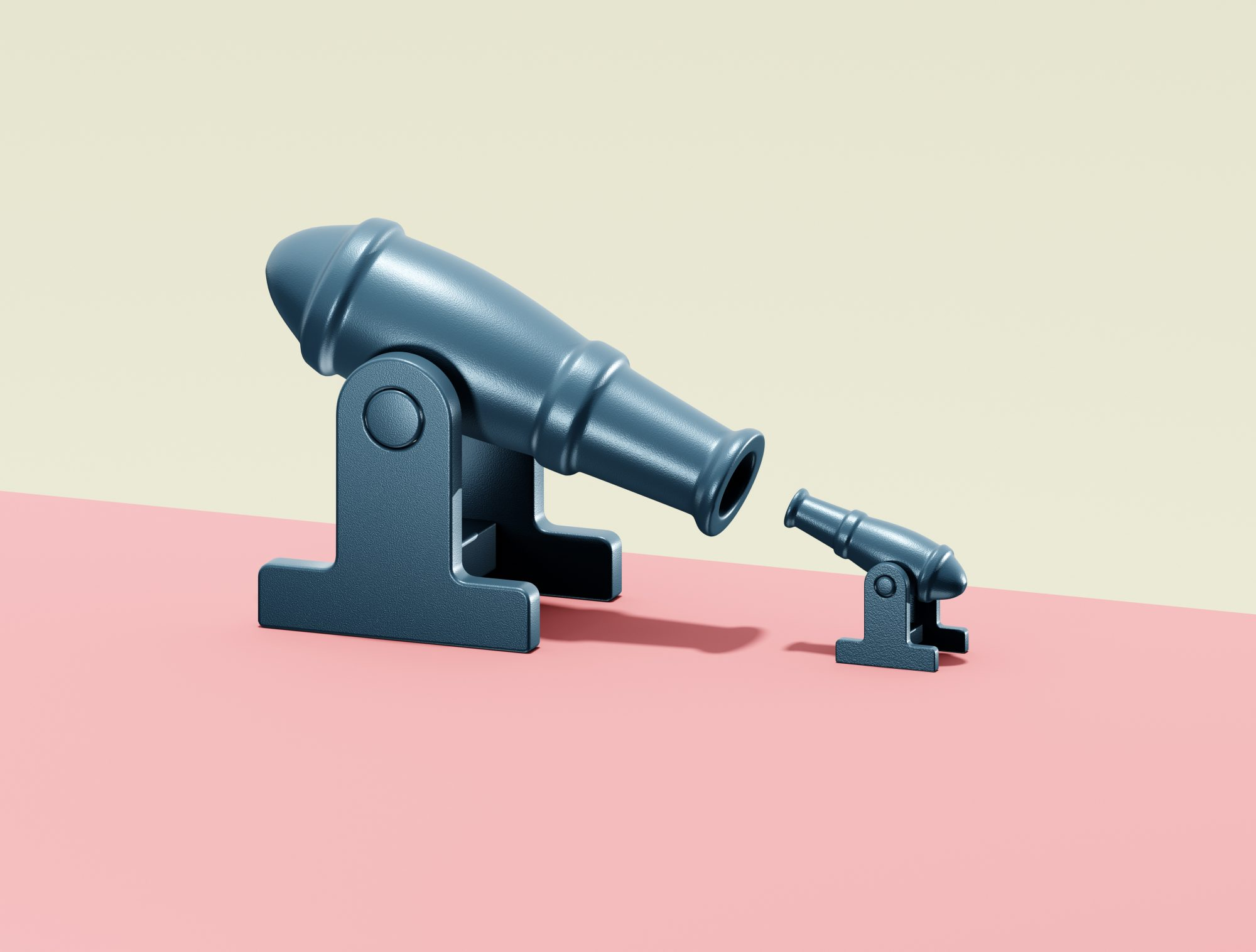 11 Signs of a Toxic Relationship: digitally generated image of two cannons facing each other