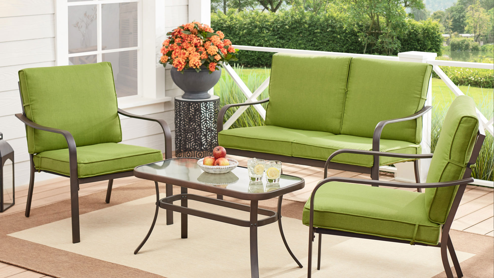 Mainstays Stanton 4-Piece Outdoor Patio Conversation Set