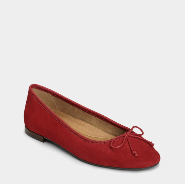 shoes-to-wear-with-flare-jeans-Aerosoles Homerun Ballet Flats