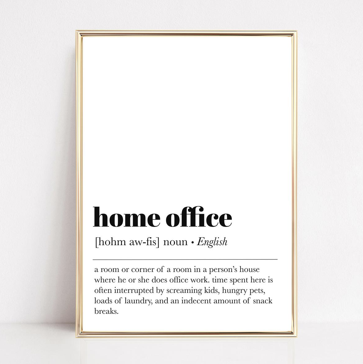 Home Office Print Coworker Gift