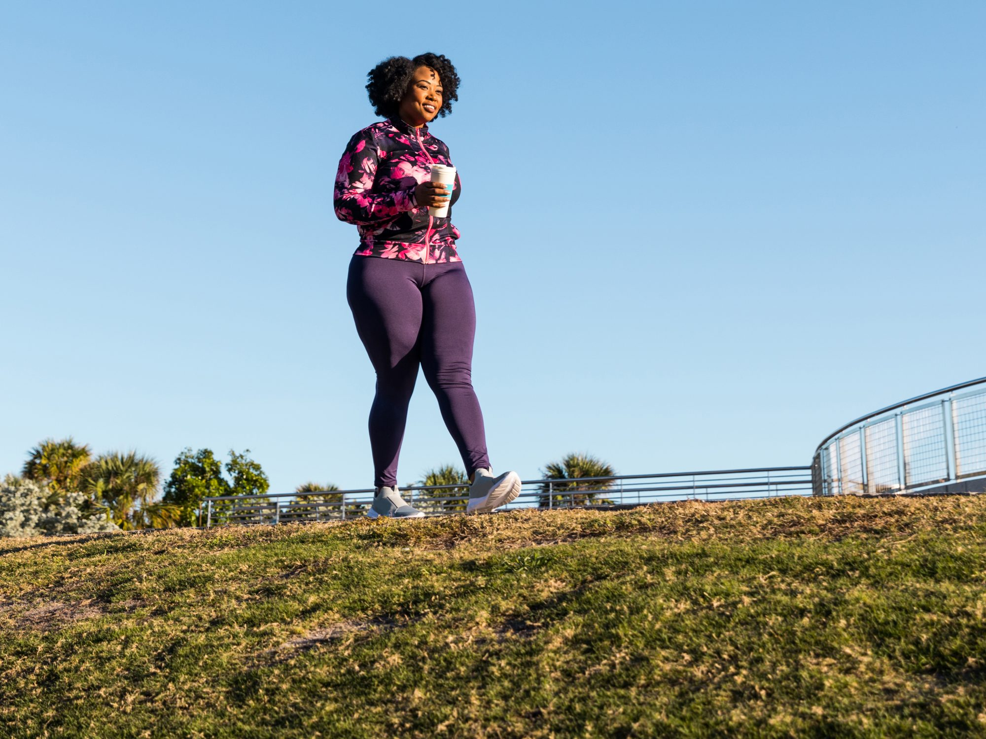 How to Get More Out of Your Walks: woman walking outdoors