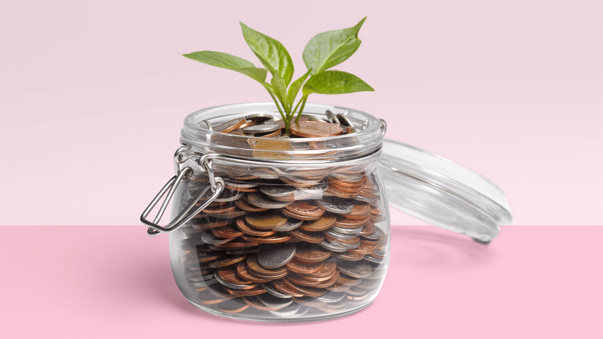 retirement-savings: jar of coins
