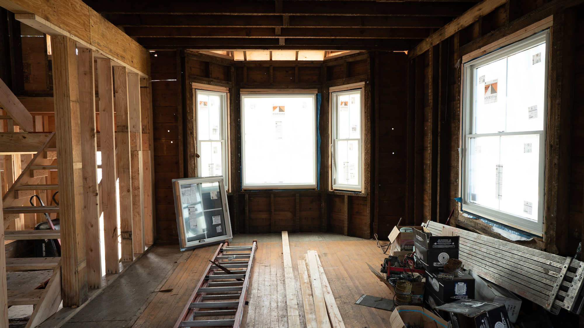 Real Simple Home 2021, Living Room Before in construction