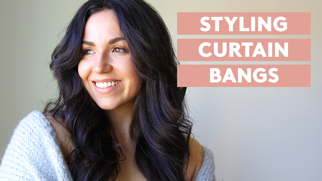 simply video: how to style curtain bangs