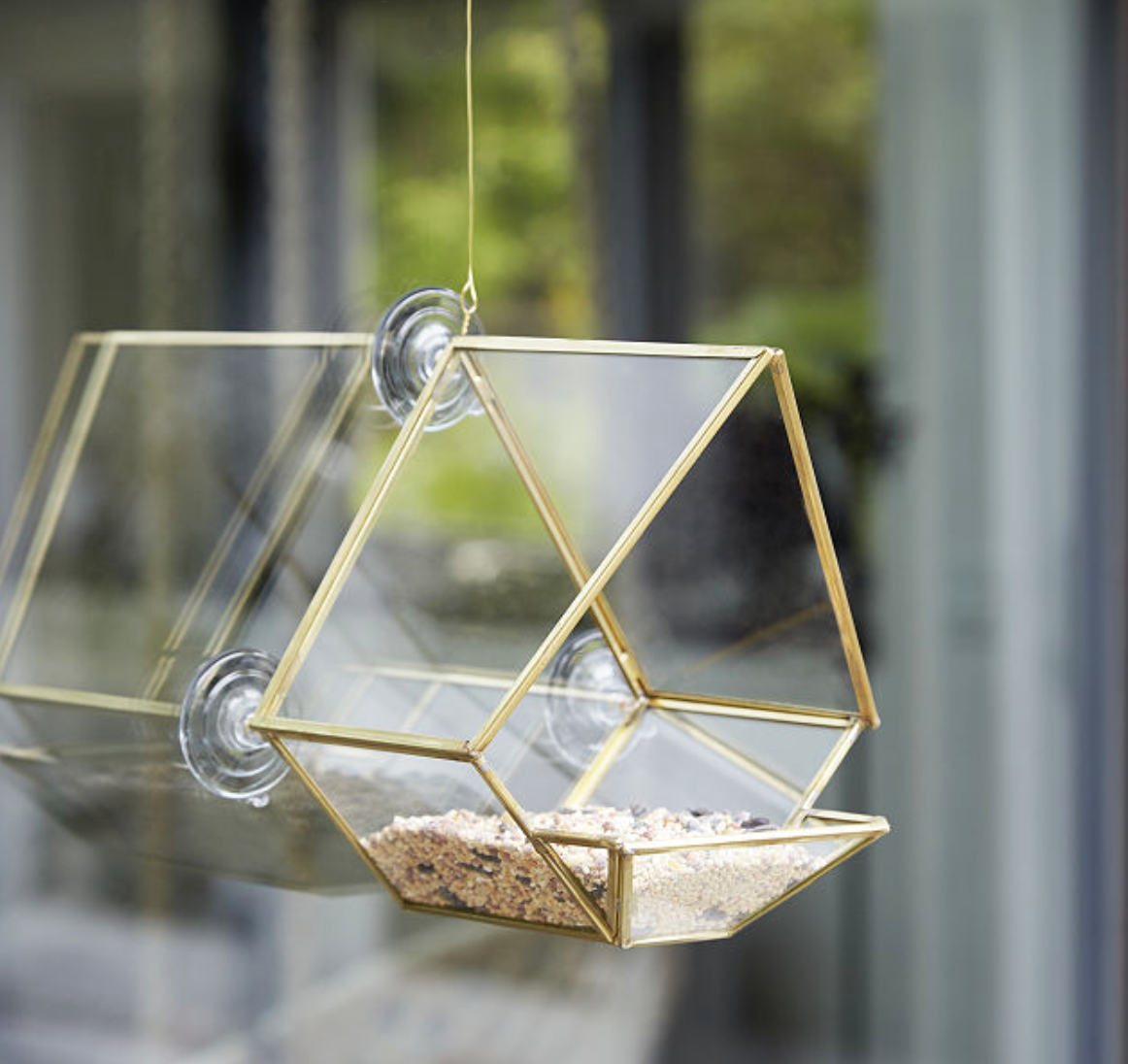 Glass Bird Feeder Mother's Day Gift