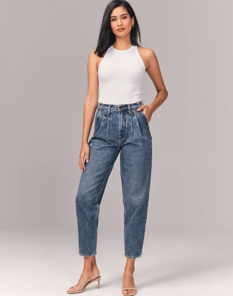 best-mom-jeans-Abercrombie High Rise 80s Mom Jeans