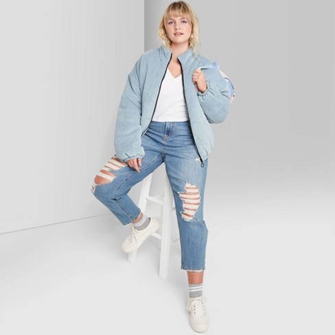 best-mom-jeans-Wild Fable High-Rise Distressed Mom Jeans
