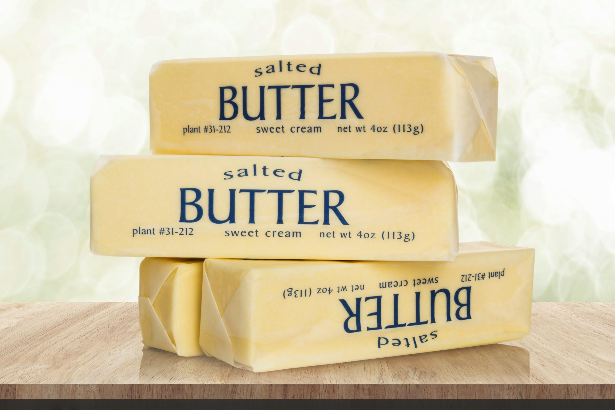 how-to-store-butter: sticks of butter