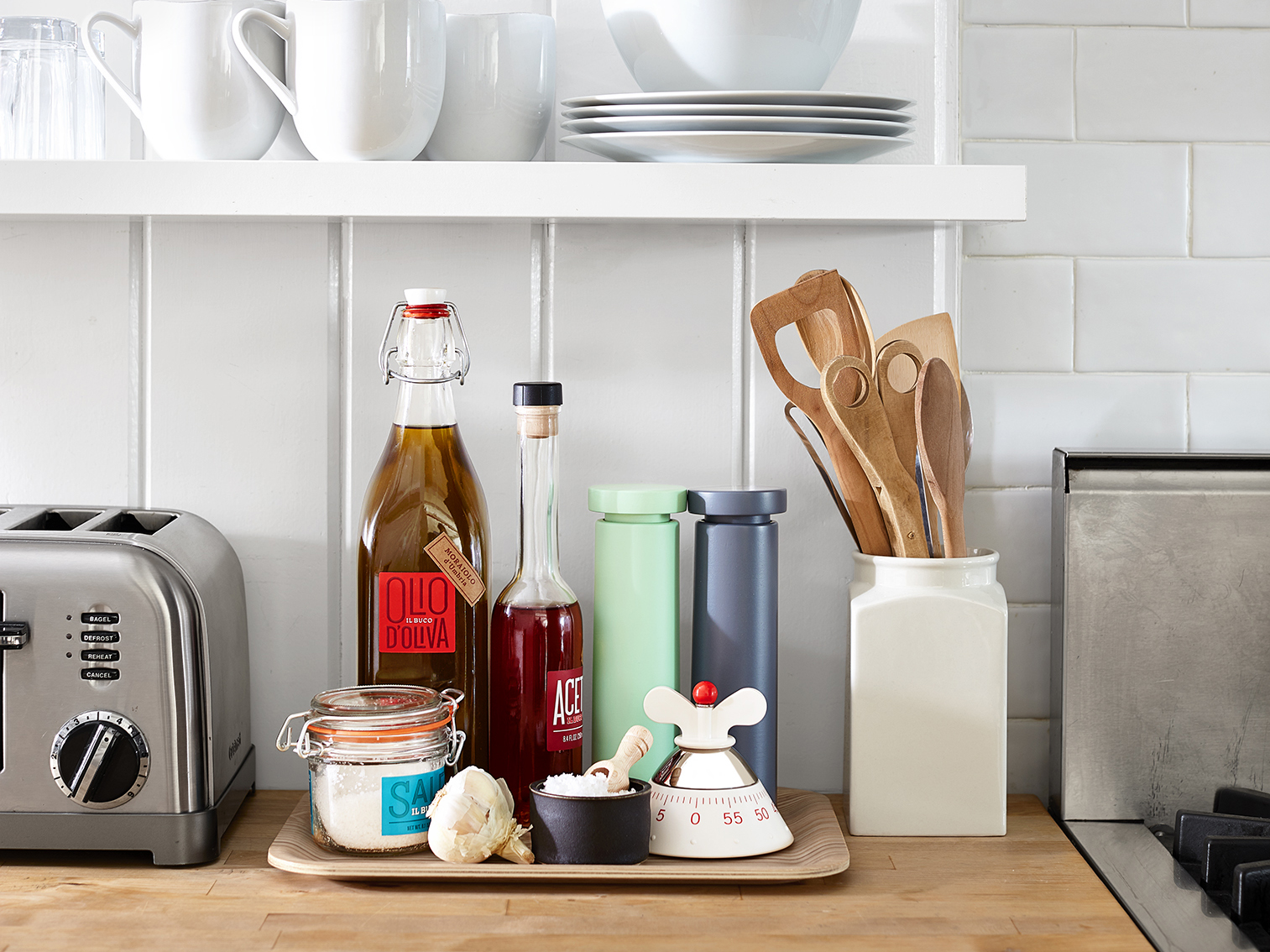 How to Declutter Every Room in Your House, tidy kitchen counter