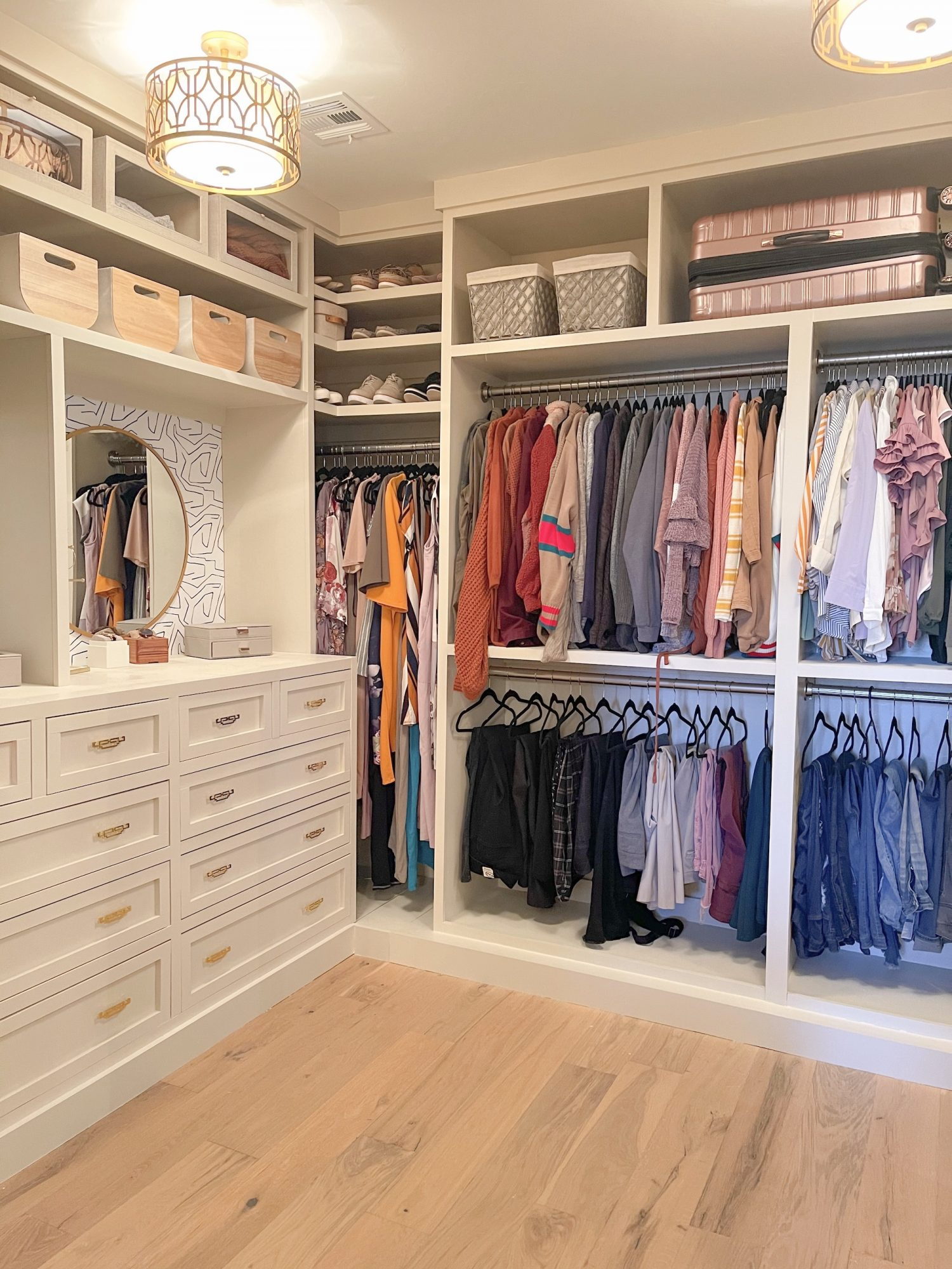Space of Week, Closet Reveal with gold pulls