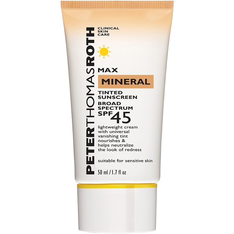 best-mineral-sunscreen-Peter Thomas Roth Max Mineral Tinted Sunscreen Broad Spectrum SPF 45