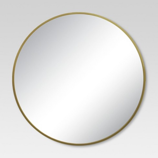 Round Gold Mirror from Target