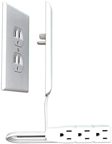 Ultra Thin Electrical Outlet Cover and Power Strip
