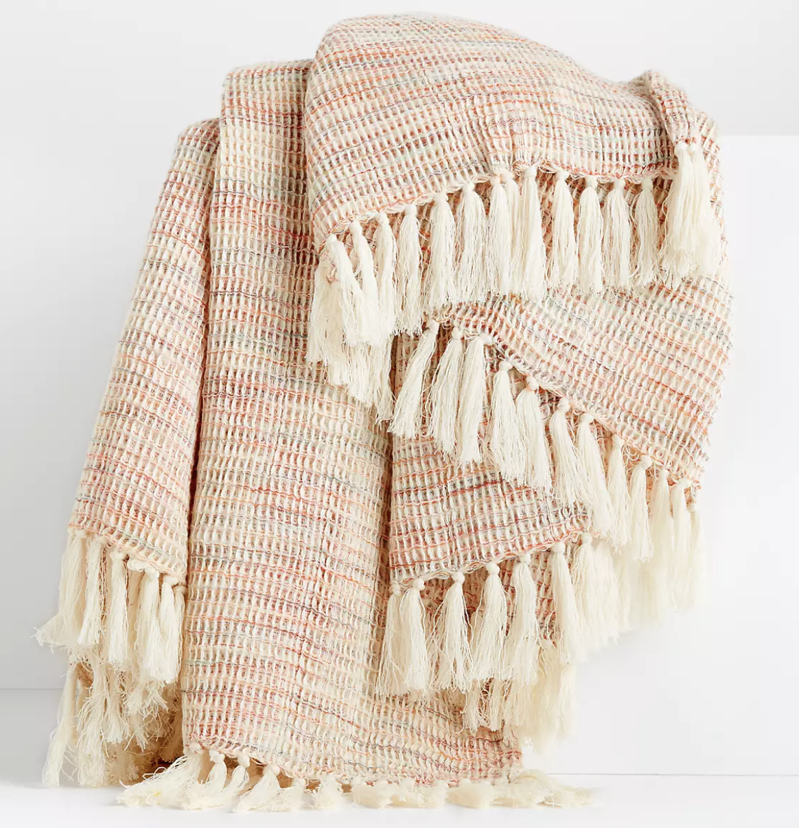 Cyril Waffle Weave Throw Blanket