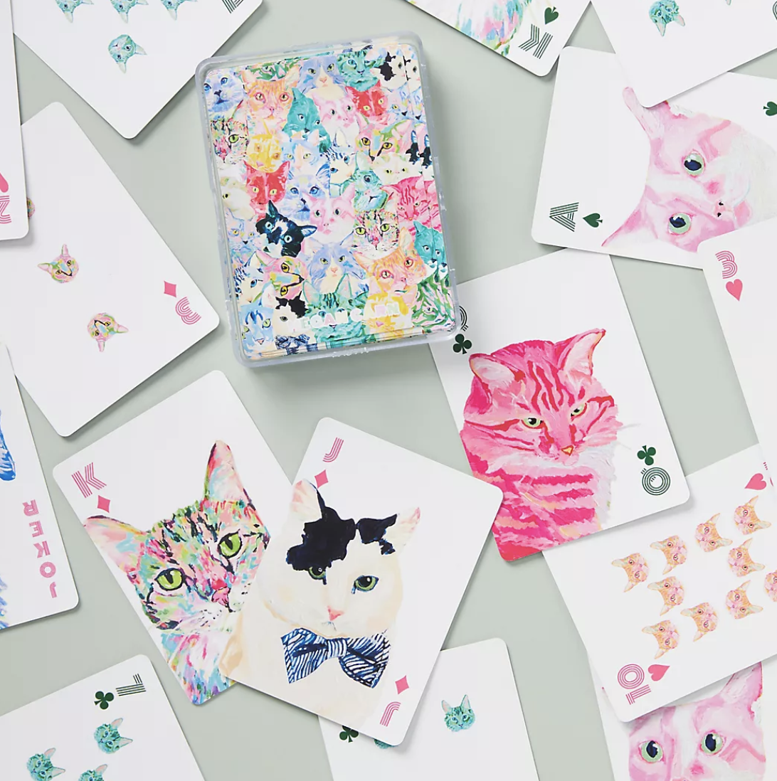 Cat Playing Cards Hostess Gift