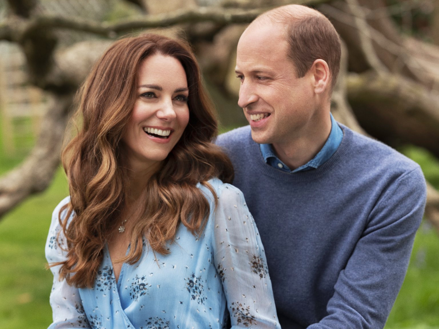Kate Middleton Wears Blue Wrap Dress for 10-Year Anniversary photo shoot: Get the Look