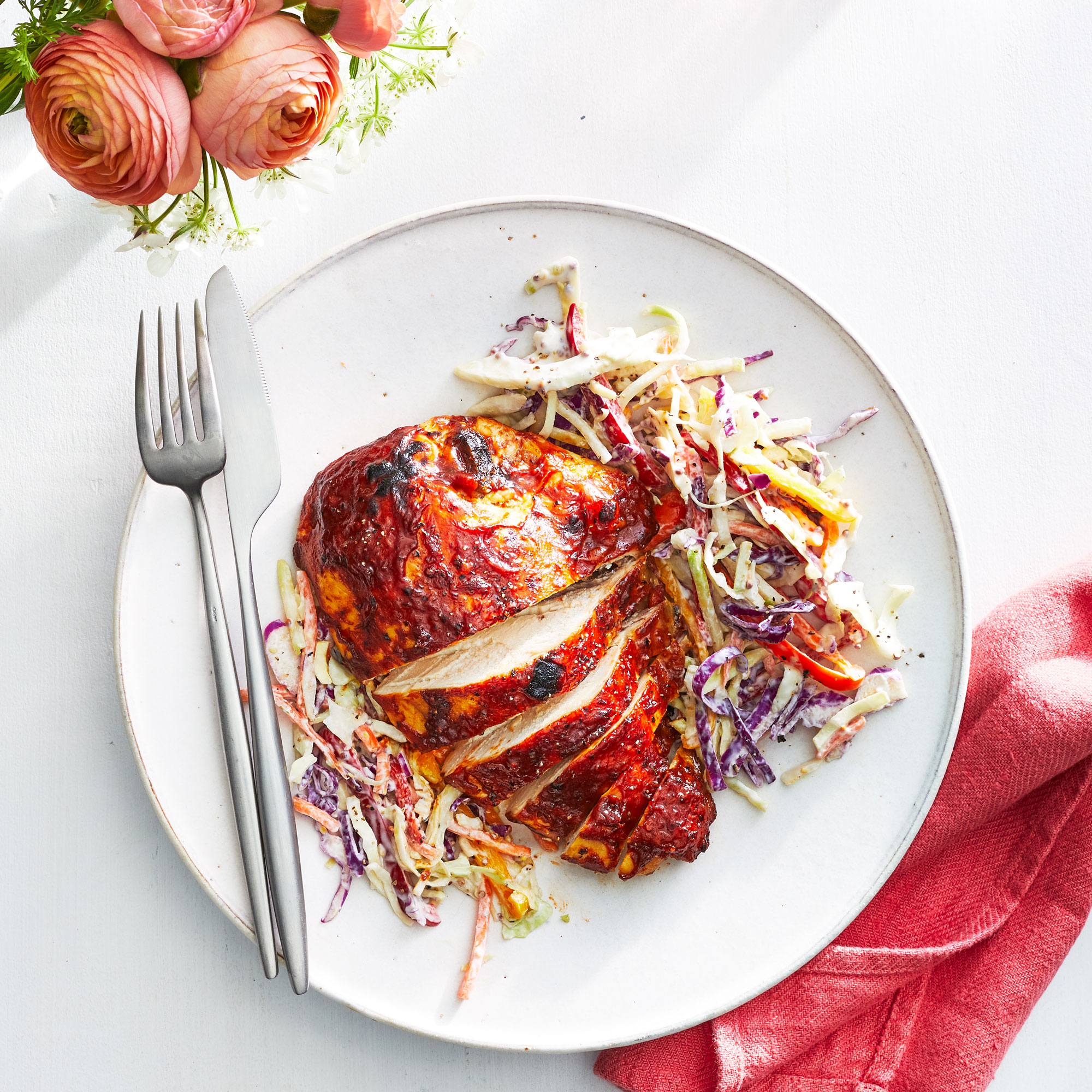 BBQ Chicken with Slaw