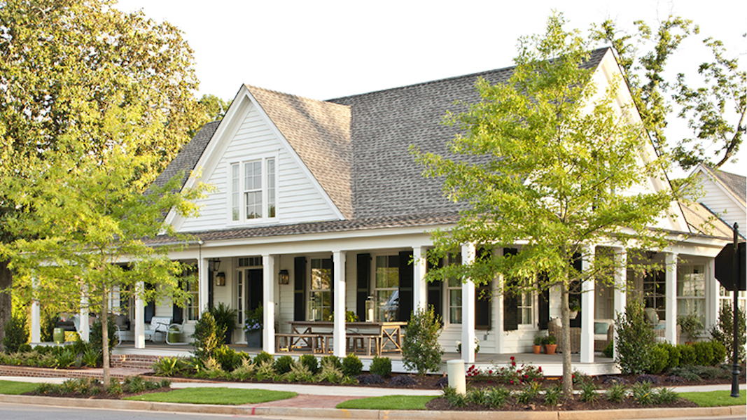 Southern Living House Plans, Wrap-Around Porch on Farmhouse