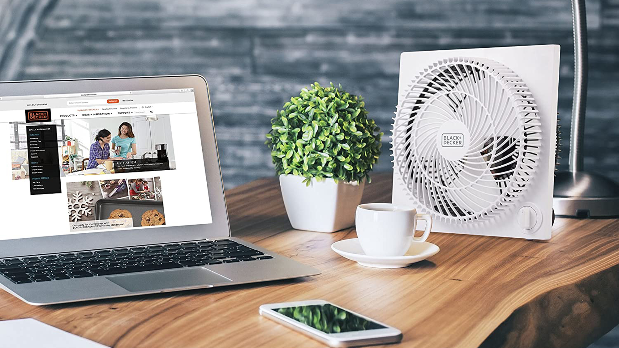 Box Fan and Air Purifier
