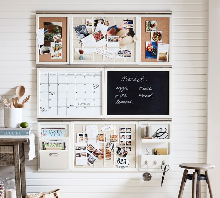 Pottery Barn Command Center in beige