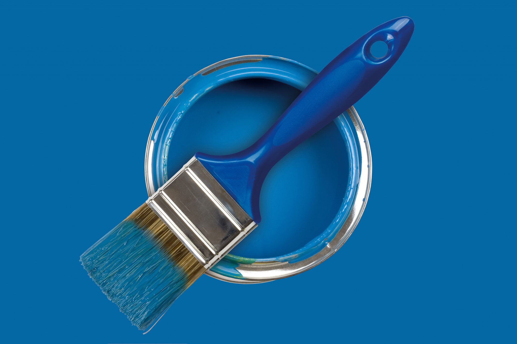 Paint Touchup Projects, blue paint
