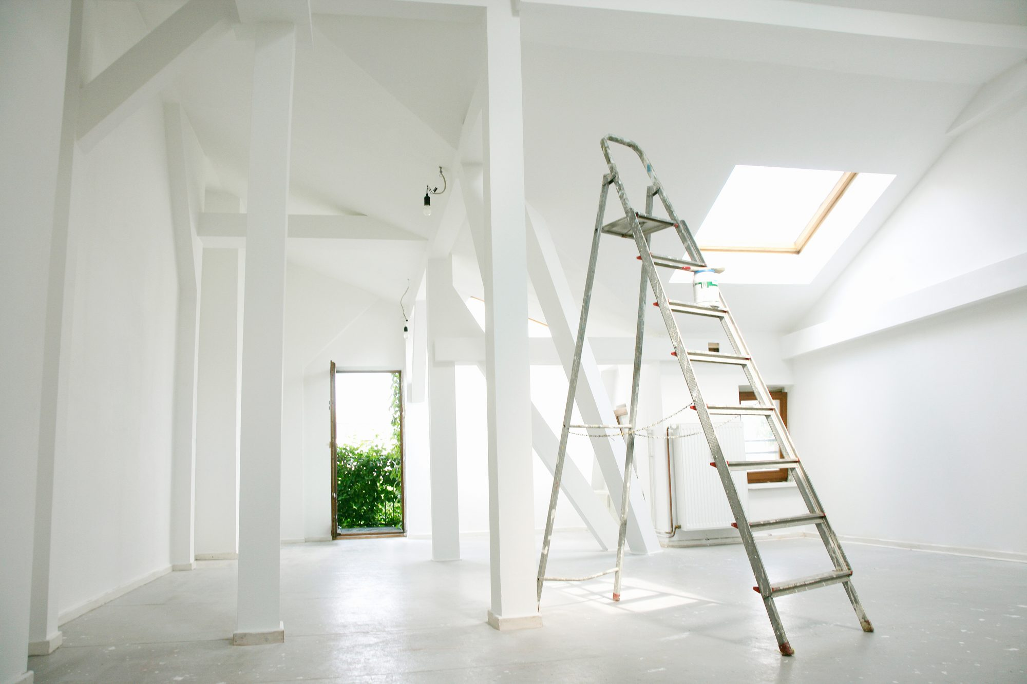 What to Know Before You Renovate: empty space and ladder