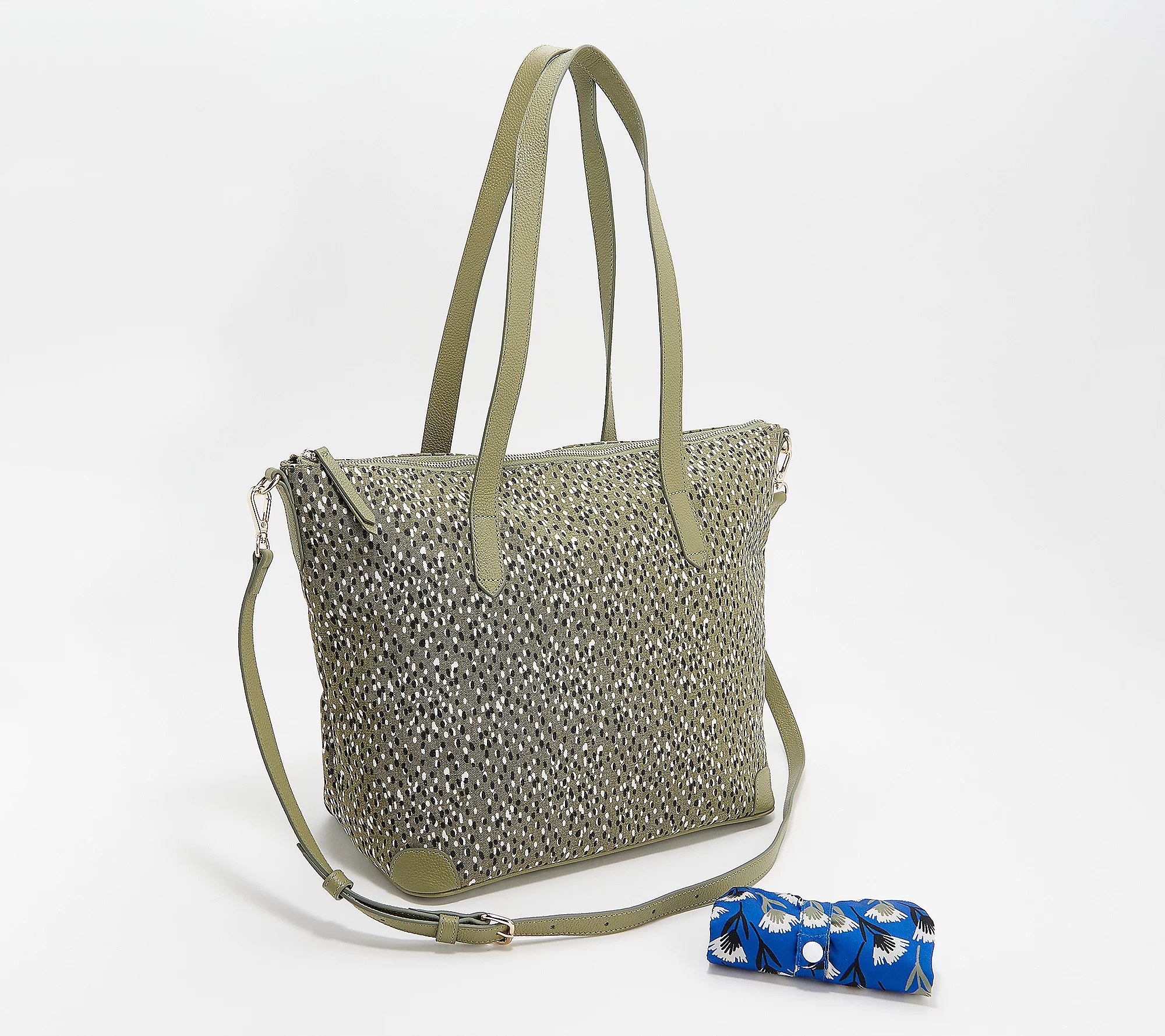 REAL SIMPLE Handbags on QVC: Coated Canvas Tote