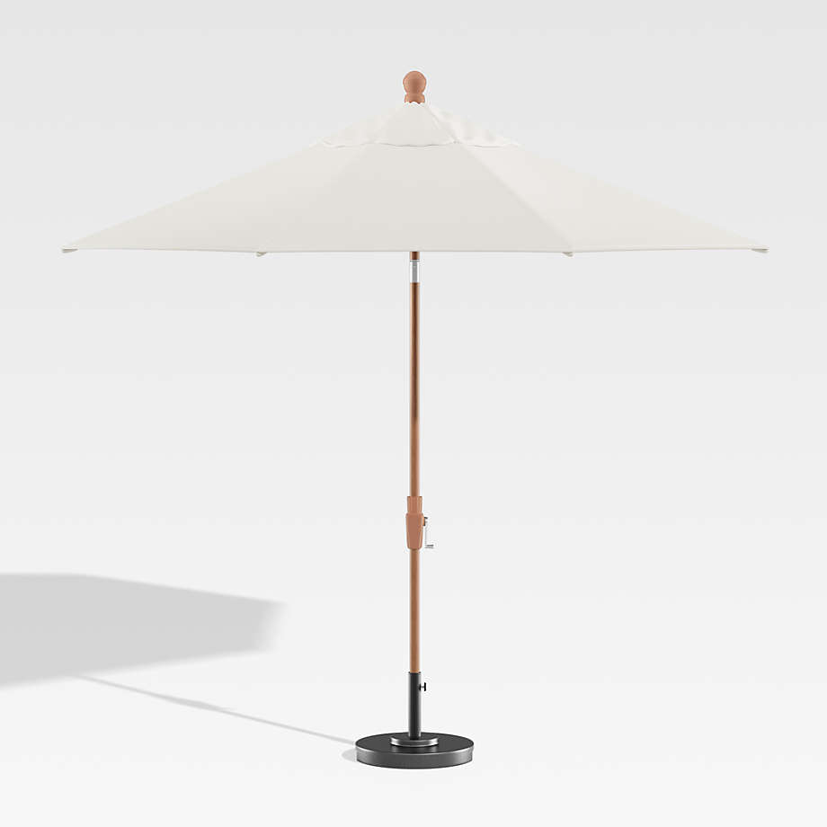 Standing Umbrella in white and wood