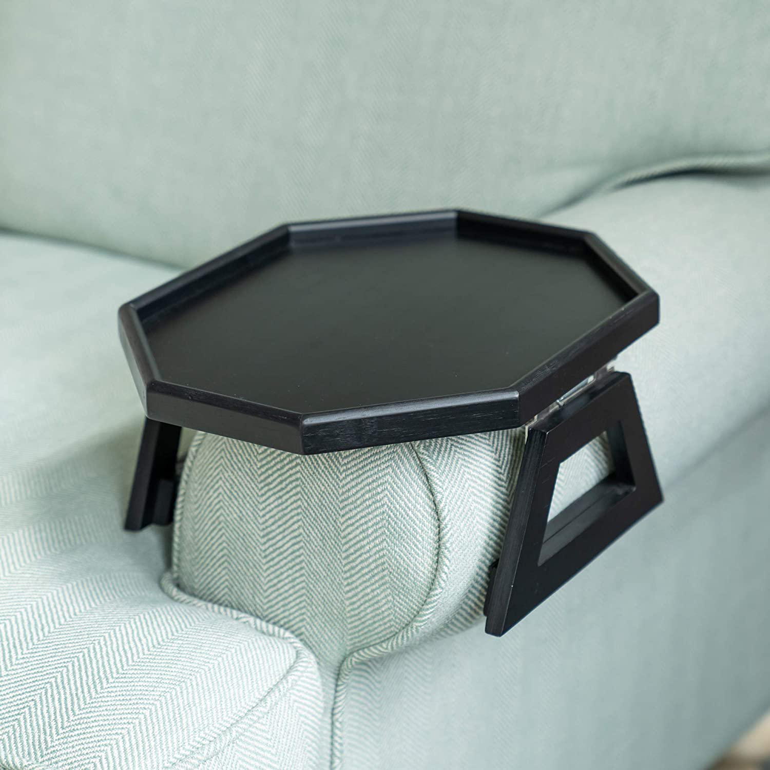 Signature Home Clip On Tray Sofa Table for Wide Couches