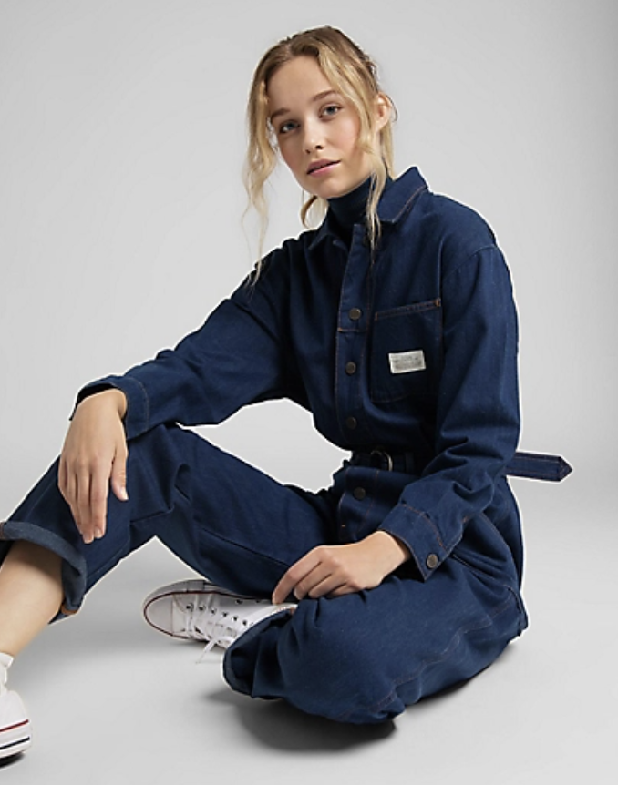 best-jumpsuits-Lee European Belted Union-All In Rinse