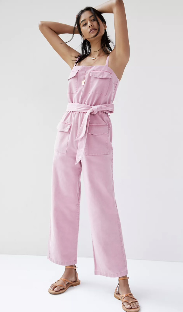 best-jumpsuits-Anthropologie Tapered Utility Jumpsuit
