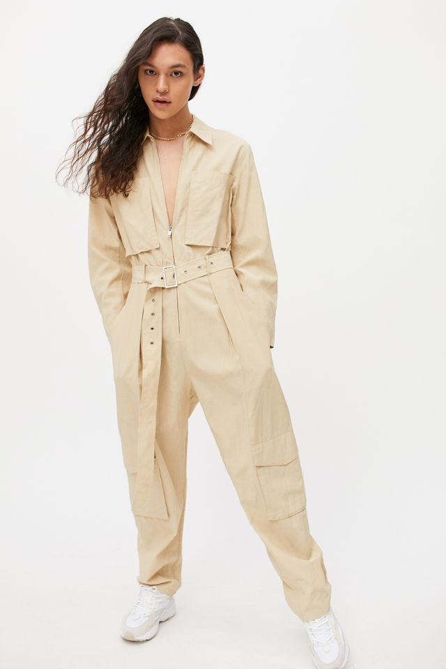best-jumpsuits-Urban Outfitters DRAE Zip-Front Coverall Jumpsuit