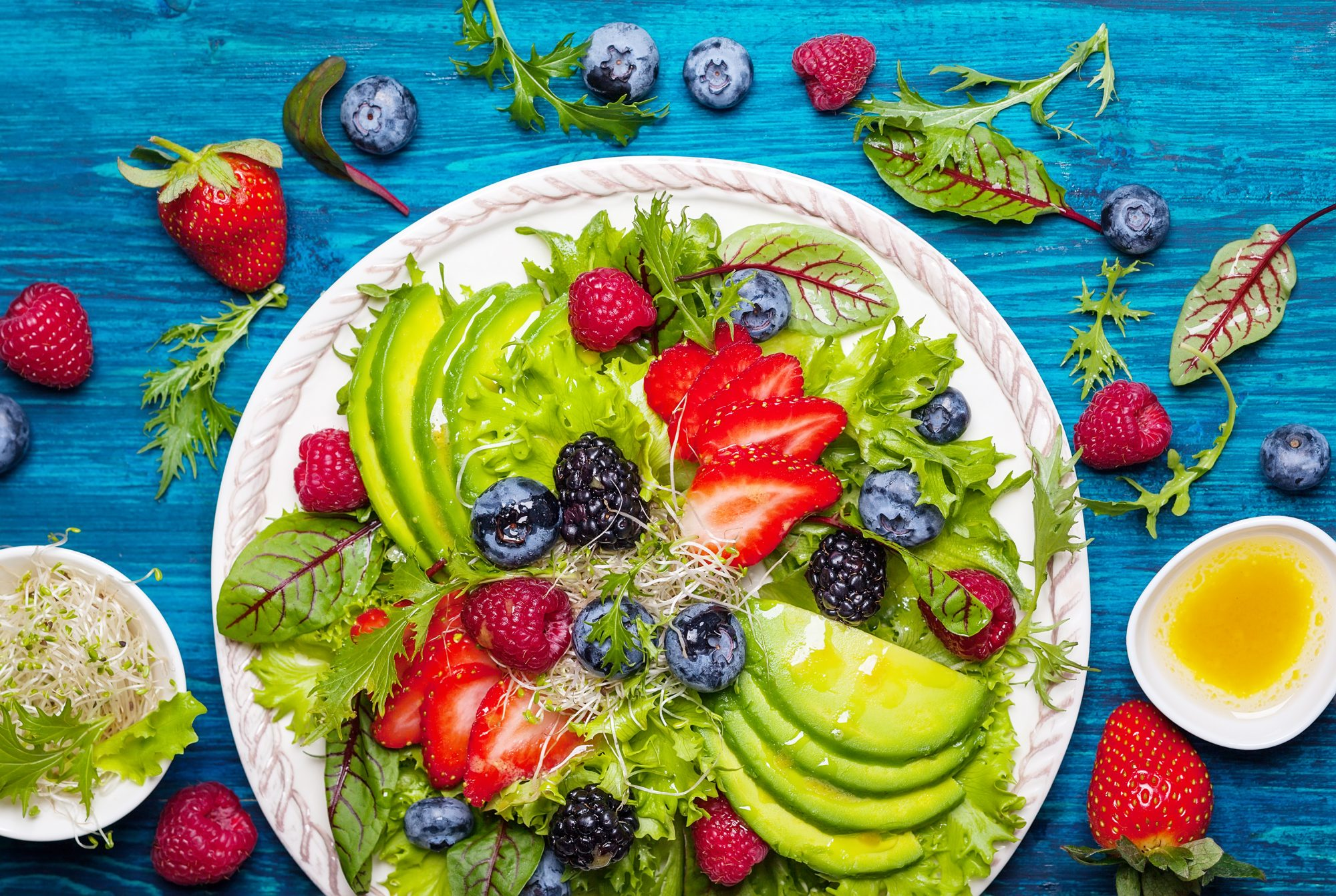 Longevity Diet and Nutrition: What to Eat to Live Longer and Stay Healthy as You Age: fruits and vegetables on a plate