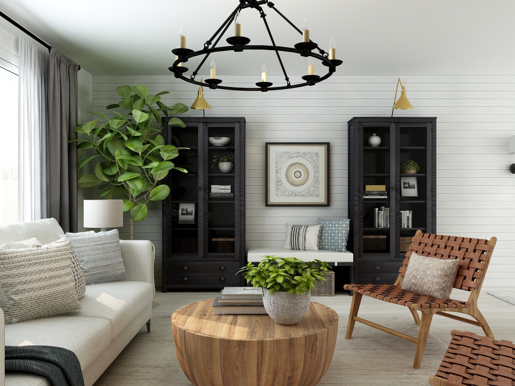 Homebuying Trends 2021, Modern Farmhouse Style living room