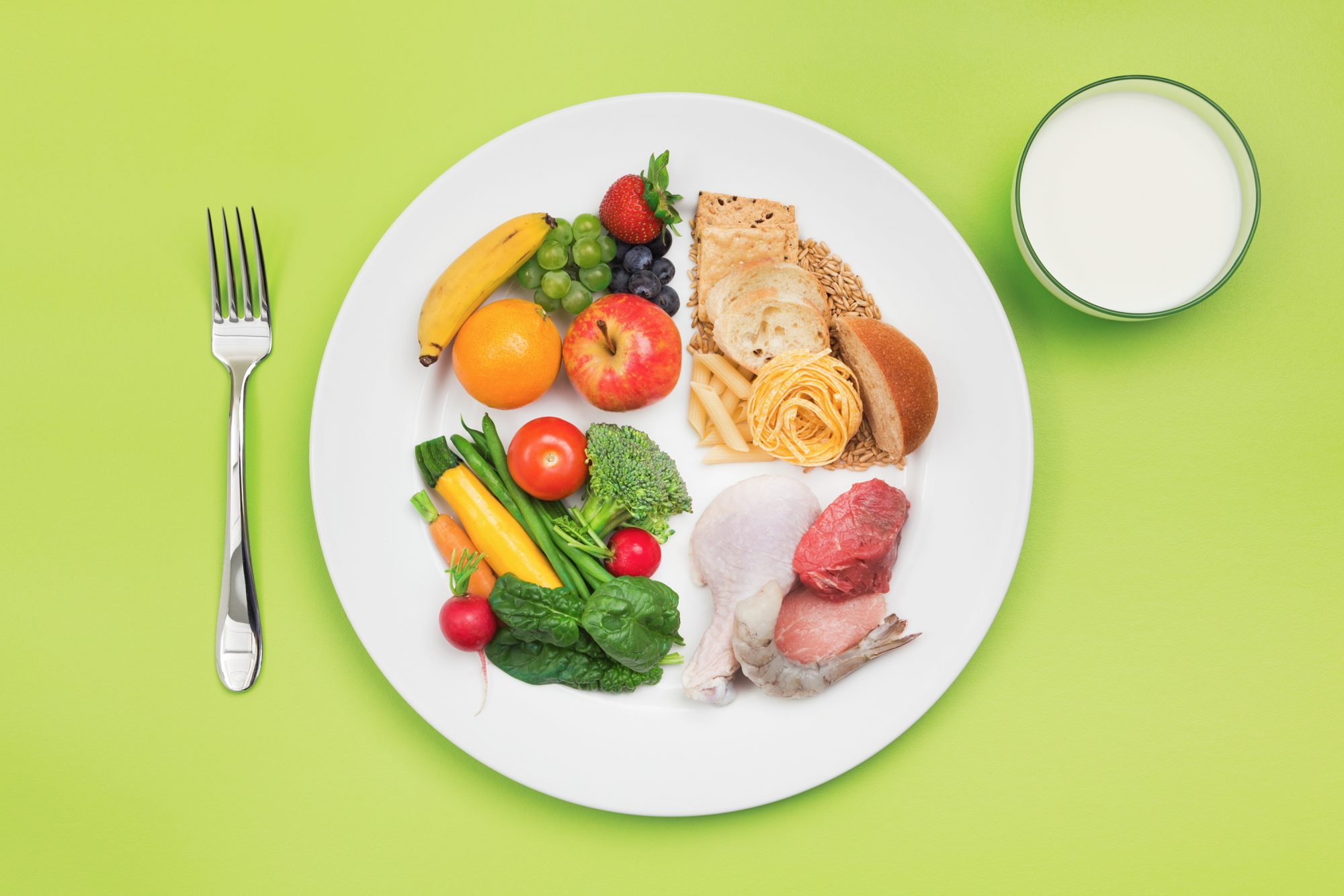 What Is a Balanced Diet? Good to Bad Diet Ratio for Overall Health: balanced food on a plate