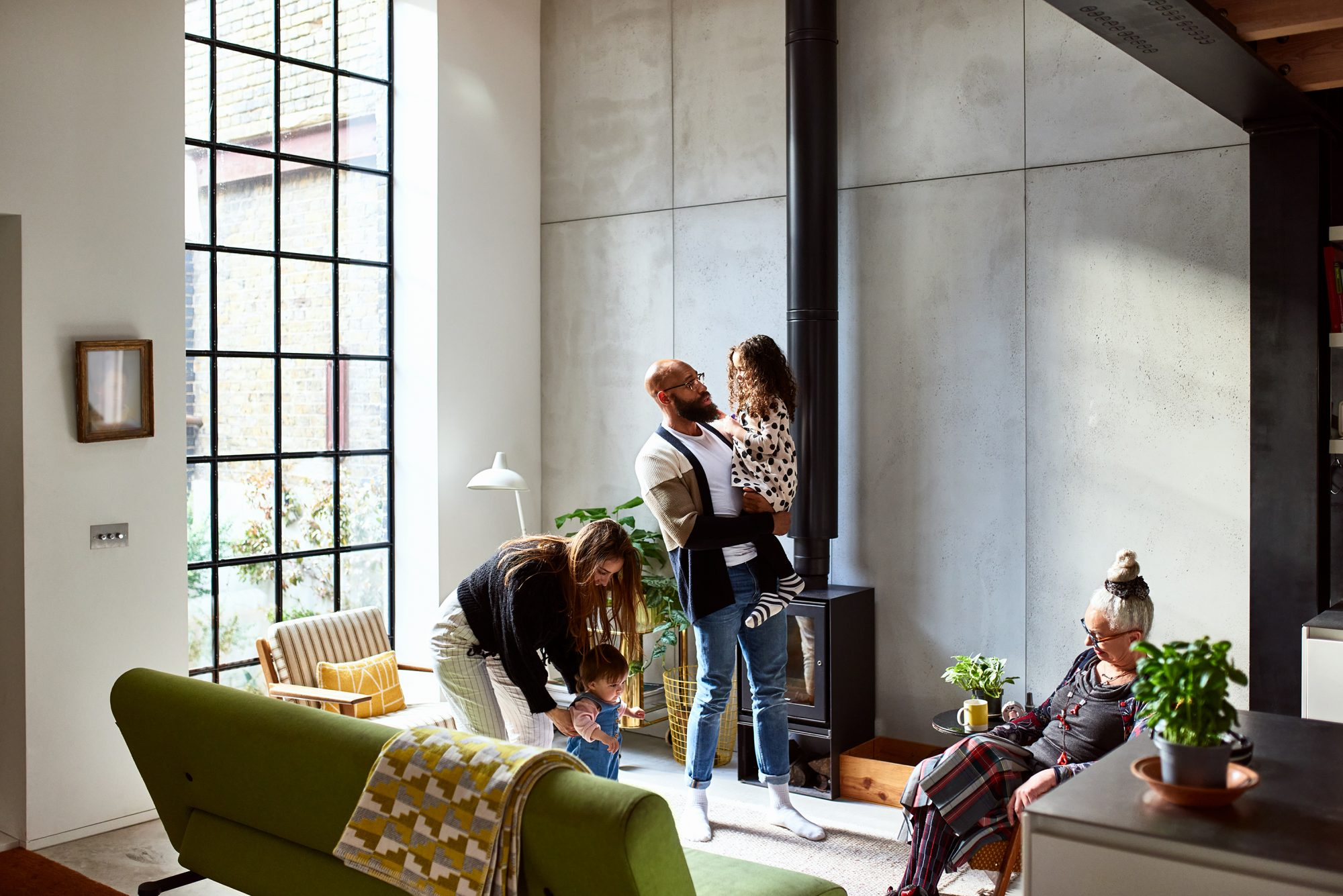 Multi-Generational House with Family