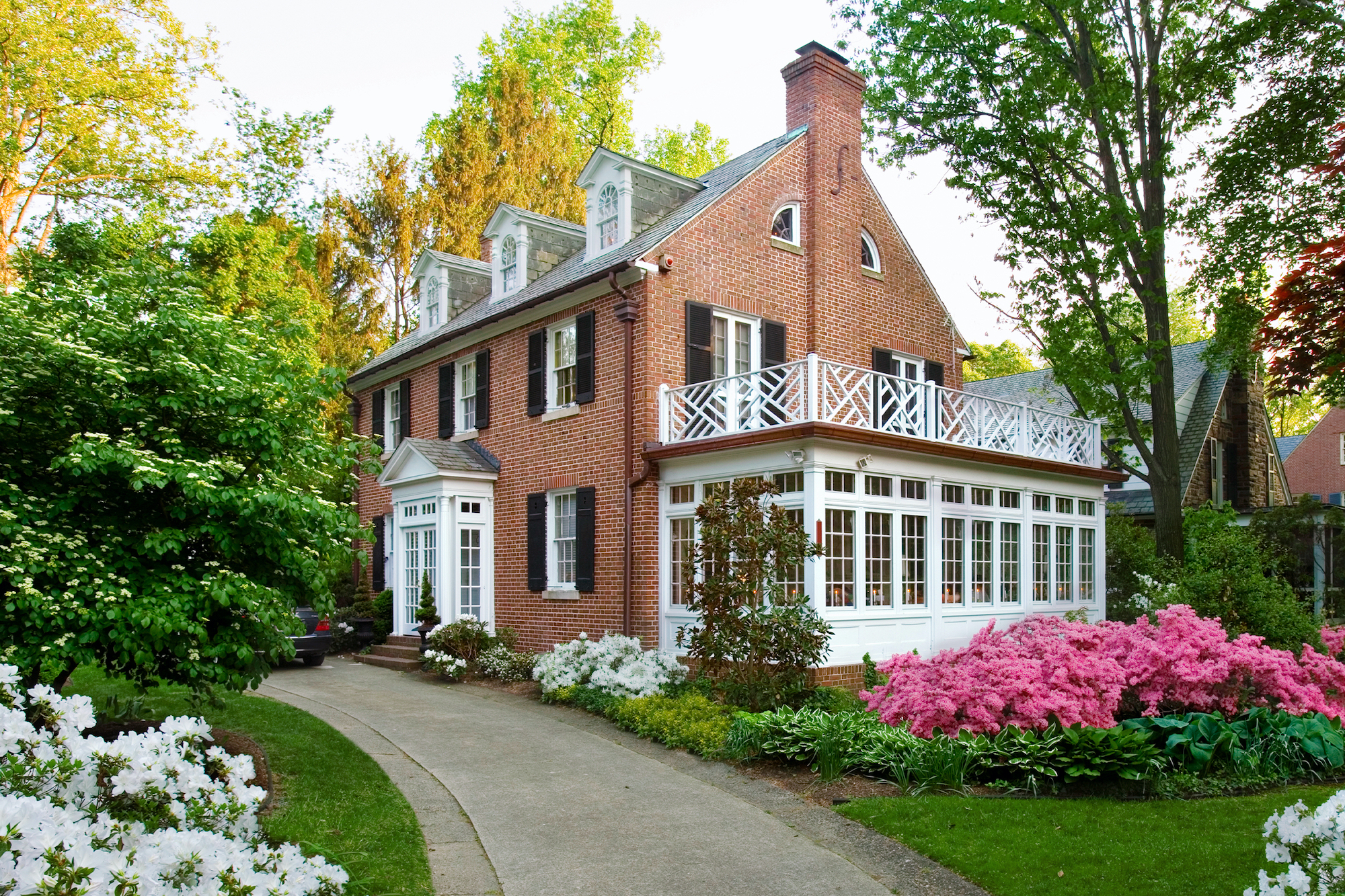 Buying and Restoring an Old House: red brick colonial