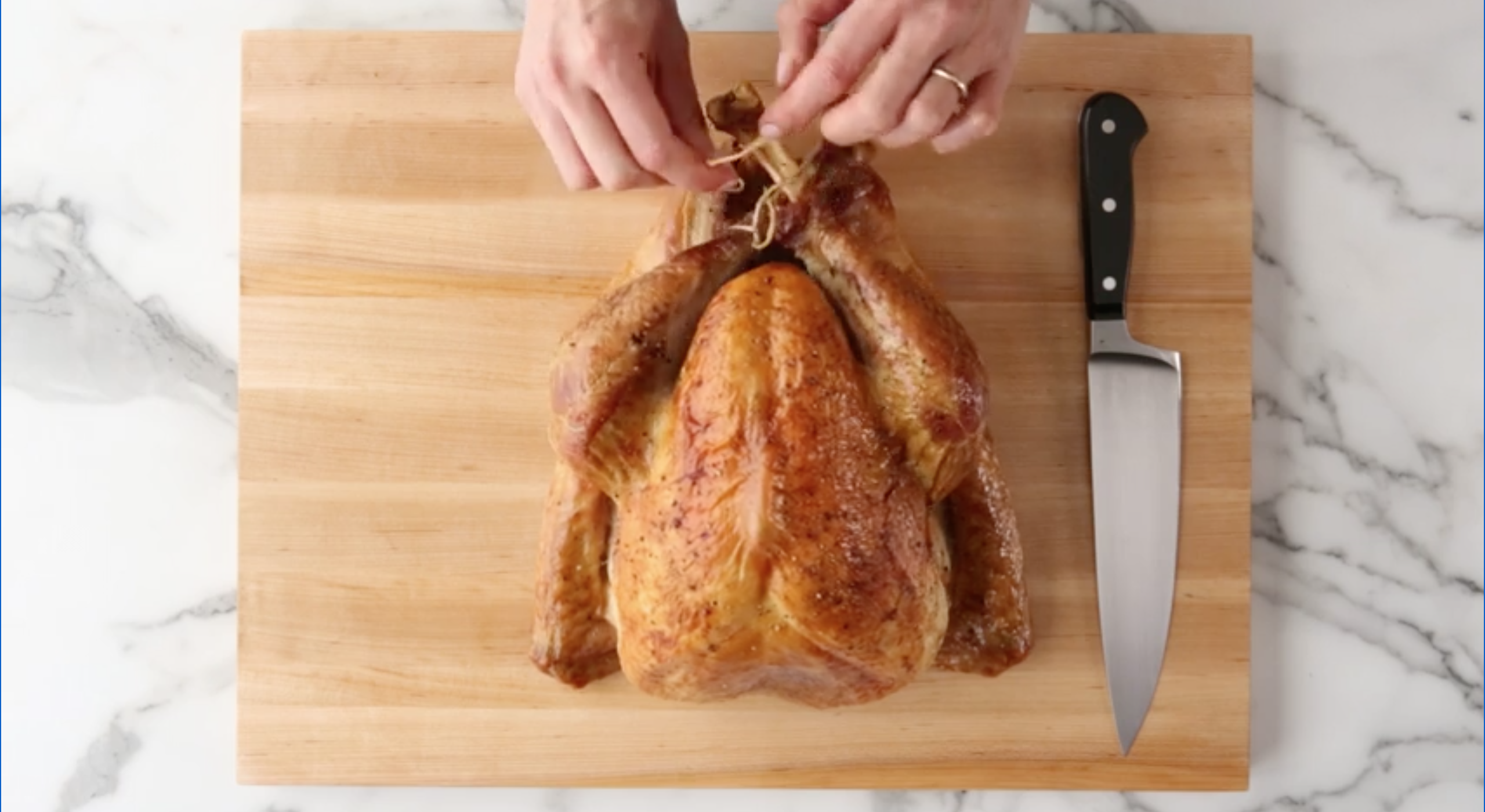 Remove string from turkey