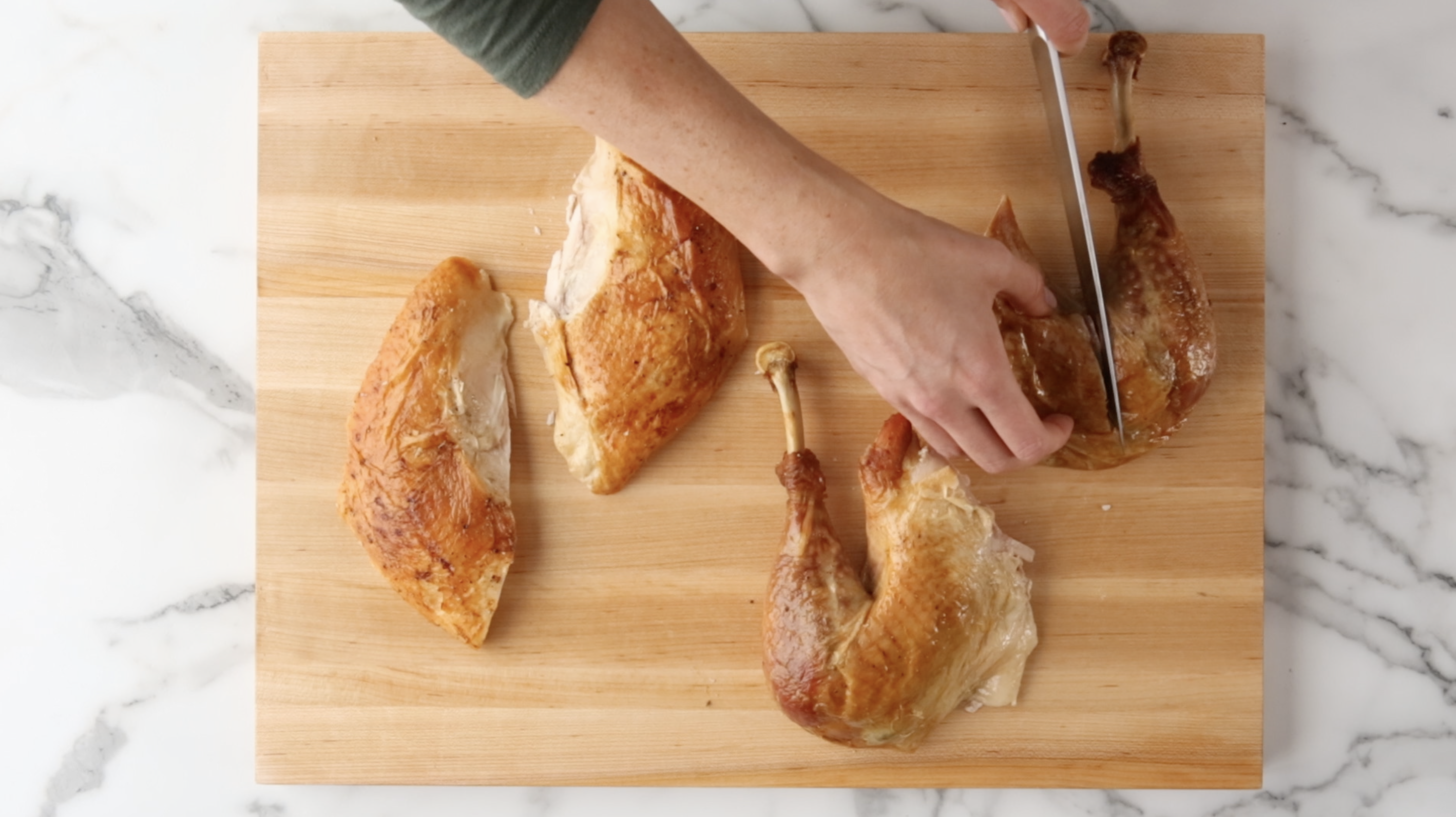 Separate the turkey Drumstick and Thigh