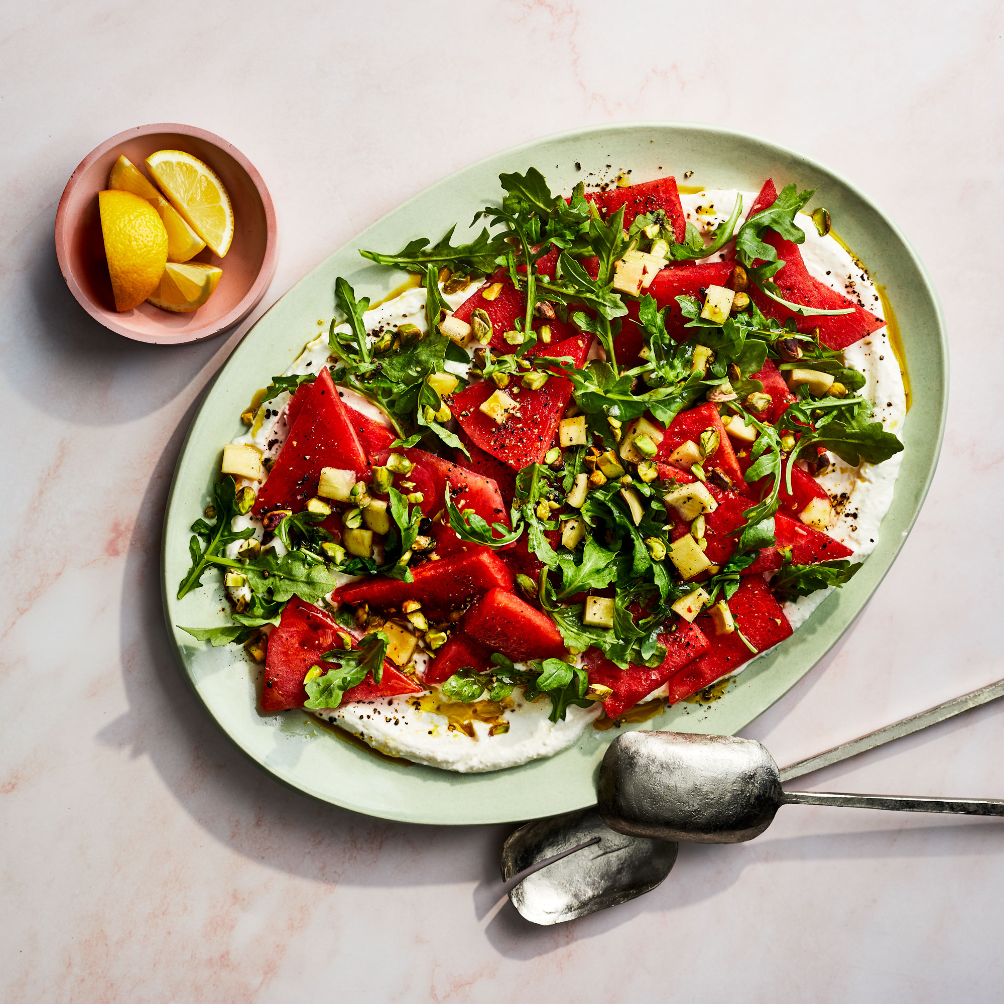 Watermelon Salad with Pickled Rind