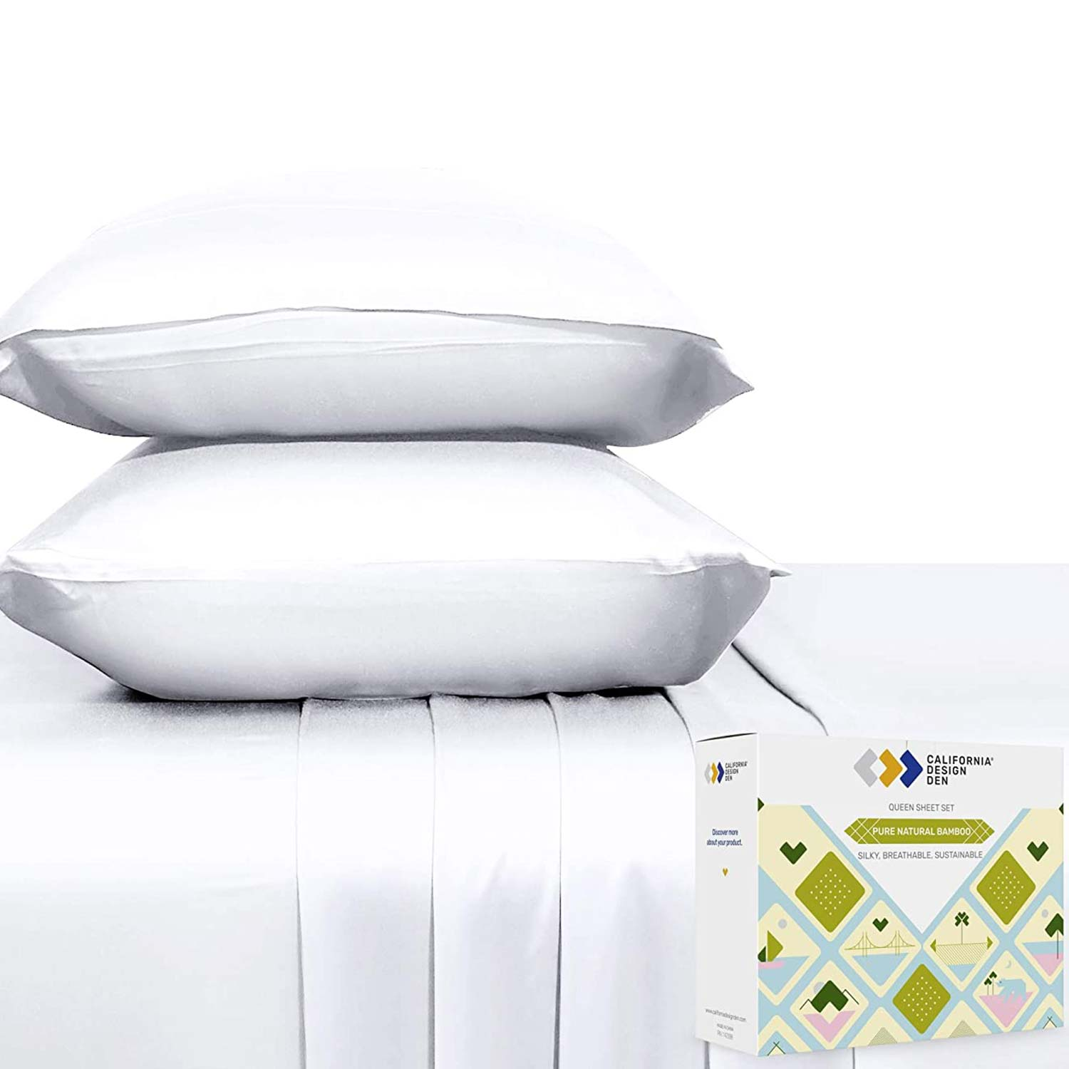 100% Natural Bamboo Sheets Silky Soft Touch