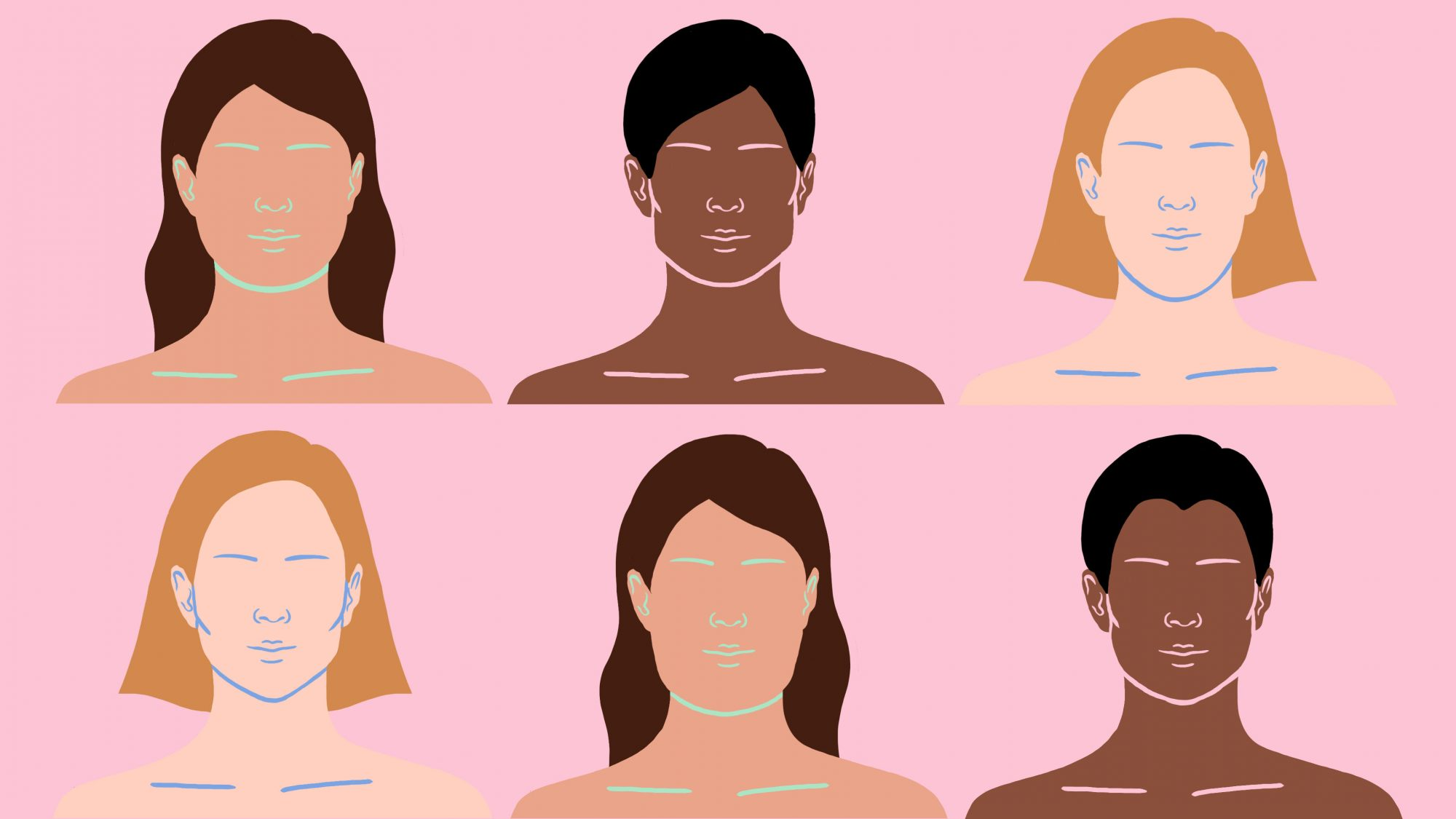 how-to-find-face-shape: face shape diagrams and examples