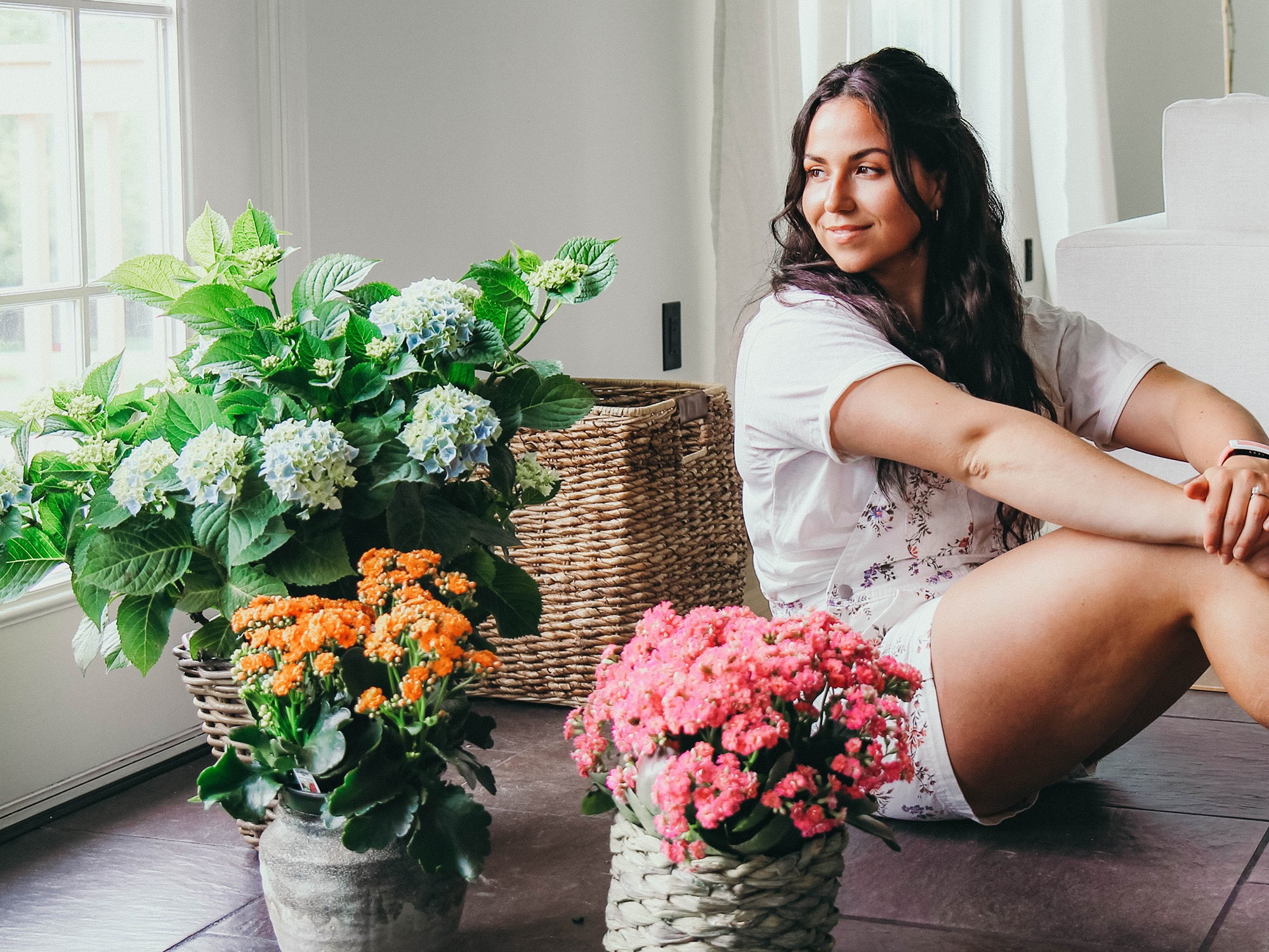 Haley Cairo and flowering plants