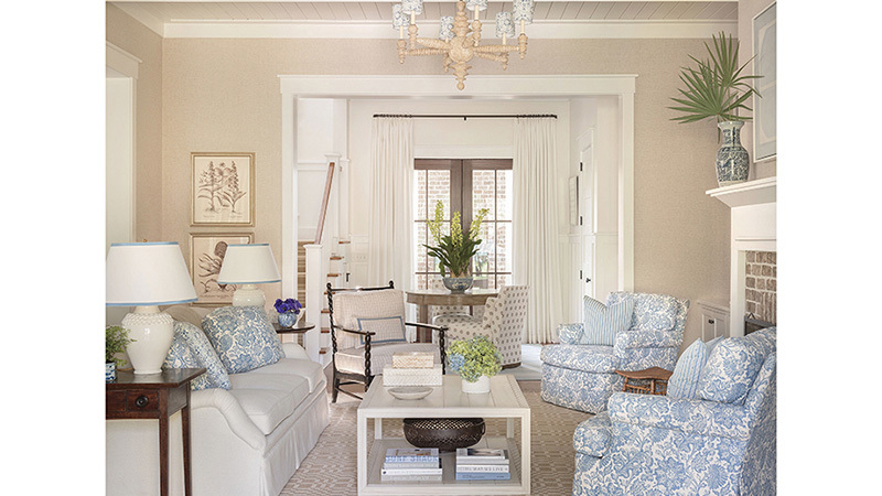 Southern Living House Plans, Lowcountry Living Room
