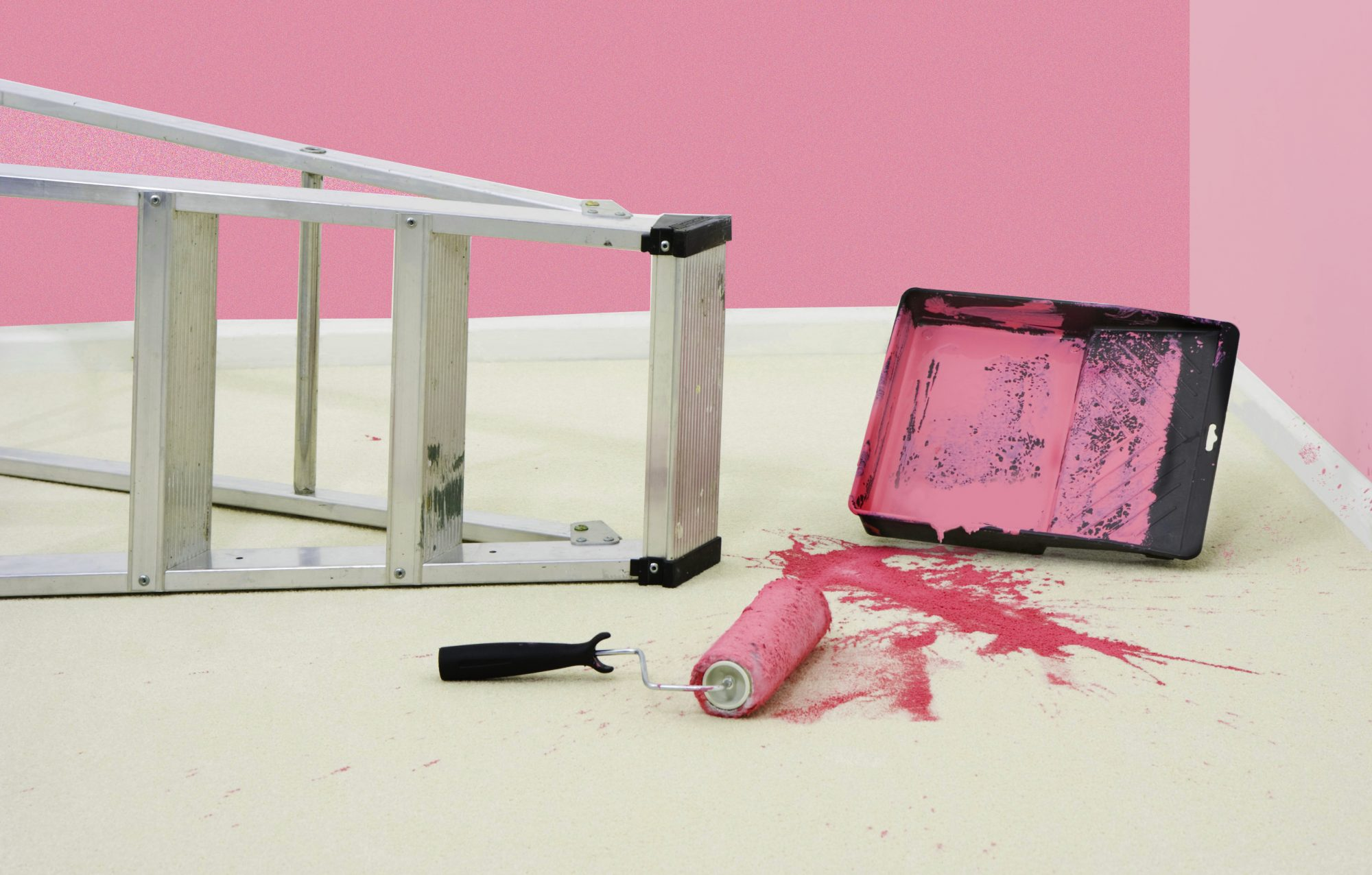 How to Get Paint Out of Carpet, pink paint on carpet